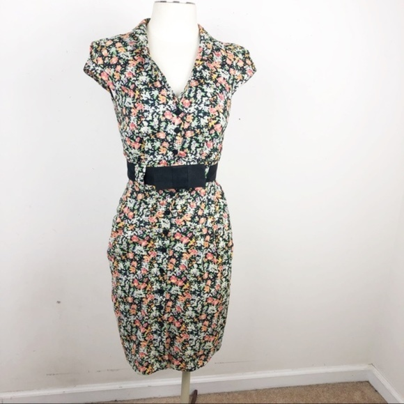 Emily and Fin Dresses & Skirts - Emily and Fin Floral Belted Dress NWOT